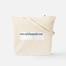 Black Pounce Cat Tote Bag