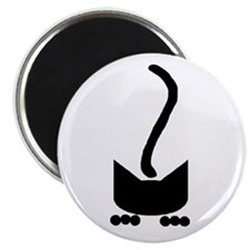 Black Pounce Cat Magnet