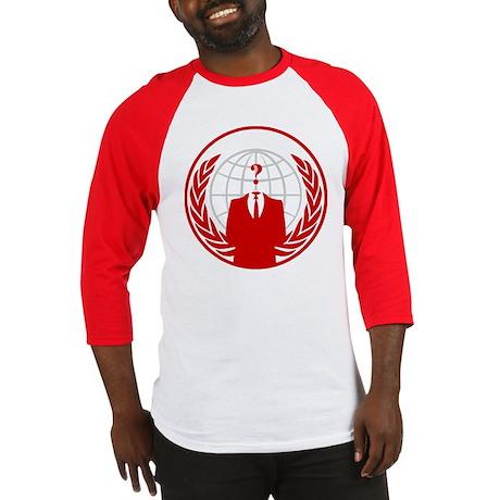 Anonymous Baseball Jersey (Red Logo)
