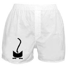 Black Pounce Cat Boxer Shorts