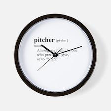 PITCHER / Gay Slang Wall Clock