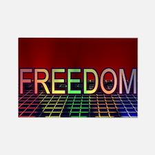 Spotlight on FREEDOM Rectangle Magnet