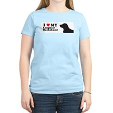 DACHSHUND LONGHAIR Womens Light T-Shirt