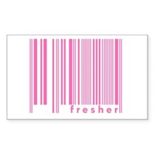 Pink Fresher Freshmen College Sticker (Rectangular