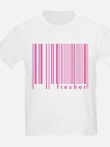 Pink Fresher Freshmen College Kids T-Shirt