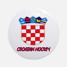 Croatian Hockey Ornament (Round)