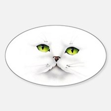Cat face Oval Decal