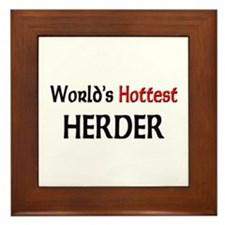 World's Hottest Herder Framed Tile