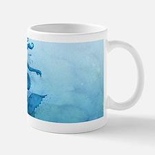 Blue Watercolor Mermaid Mugs