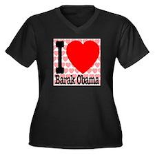 I Love Barak Obama Women's Plus Size V-Neck Dark T