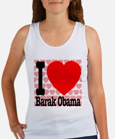 I Love Barak Obama Women's Tank Top