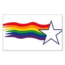 Rainbow Star Rectangle Decal