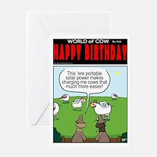 Solar Cows Greeting Card
