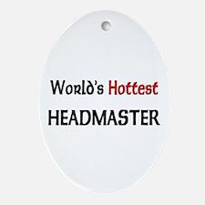 World's Hottest Headmaster Oval Ornament
