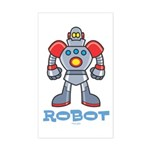 Robot Rectangle Sticker