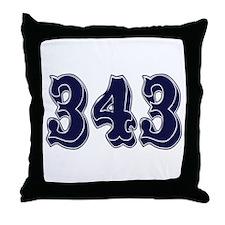 343 Throw Pillow