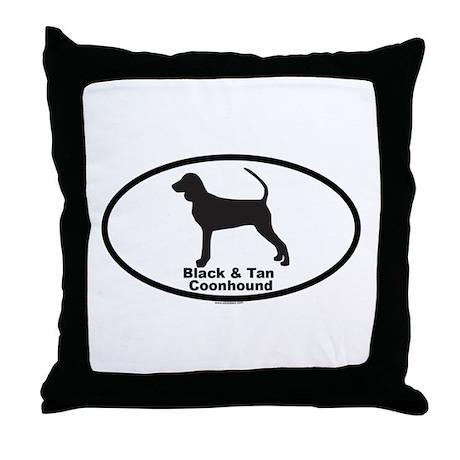 BLACK TAN COONHOUND Throw Pillow