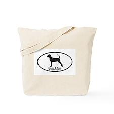 BLACK TAN COONHOUND Tote Bag