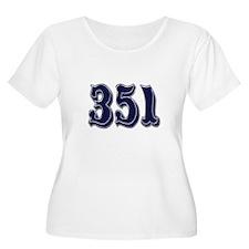 351 Womens Plus-Size Scoop Neck T