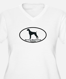 GERMAN SHORTHAIRED POINTER Womes Plus-Size V-Neck