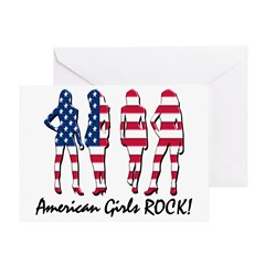 American Girls Rock Greeting Card