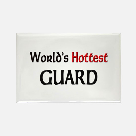World's Hottest Guard Rectangle Magnet
