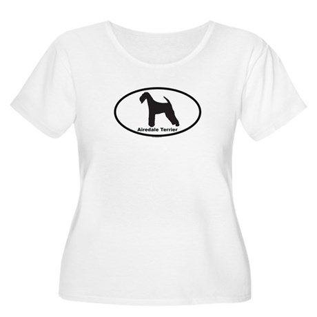 AIREDALE TERRIER Womens Plus-Size Scoop Neck T