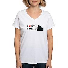 COLLIE-ROUGH Womens V-Neck T-Shirt