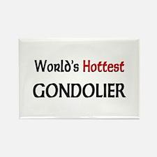 World's Hottest Gondolier Rectangle Magnet