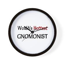 World's Hottest Gnomonist Wall Clock