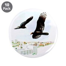 "Turkey Vulture 3.5"" Button (10 pack)"