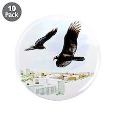 "Turkey Vulture 3.5"" Button (10 pack)"
