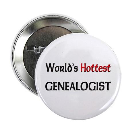 "World's Hottest Genealogist 2.25"" Button (10 pack)"