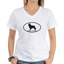 BELGIAN TERVUREN Womens V-Neck T-Shirt