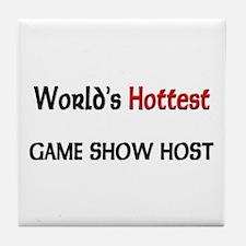 World's Hottest Game Show Host Tile Coaster