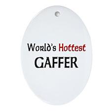 World's Hottest Gaffer Oval Ornament
