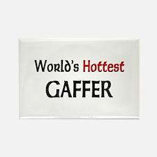 World's Hottest Gaffer Rectangle Magnet