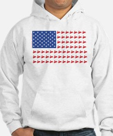 Snow Cross Snowmobile Flag of Sleds Hoodie