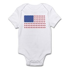 Snow Cross Snowmobile Flag of Sleds Infant Bodysui