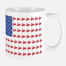 Snow Cross Snowmobile Flag of Sleds Mug