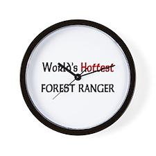 World's Hottest Forest Ranger Wall Clock