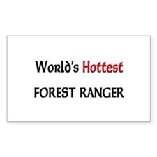 World's Hottest Forest Ranger Rectangle Decal