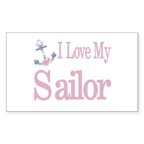 i love my sailor Rectangle Sticker