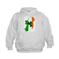 Tricolor Map of Ireland Hoodie