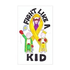 Fight Like A Kid Rectangle Decal