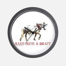 Make Mine A Draft Wall Clock