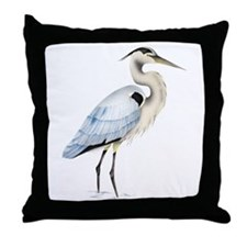 Great blue heron Throw Pillow