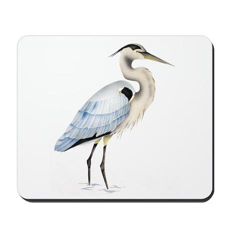 Great blue heron Mousepad