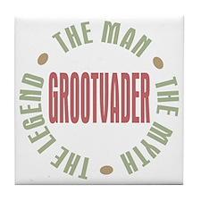 Grootvader Dutch Grandad Man Myth Tile Coaster