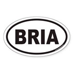 BRIA Euro Oval Sticker